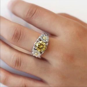 Jewelry - 925 Daisy Citrine Ring💋